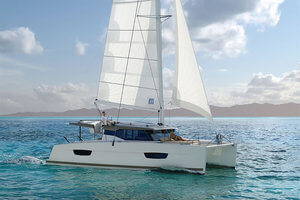 fountaine pajot lucia 40 catamaran for sale into annapolis charter fleet