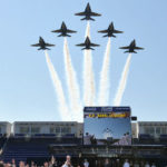 blue angels flyover at us naval academy graduation in annapolis