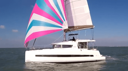 bali 4.1 catamaran for sale into the charter management fleet for annapolis bay charters